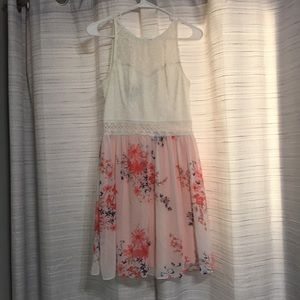 Floral and White Formal Dress